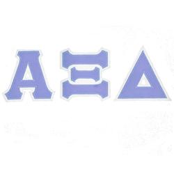 alpha xi delta sorority tackle twilled greek letter With alpha xi delta greek letters