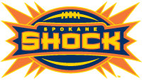 Spokane Shock Screen Printed Ladies 100% Cotton Essential T-Shirt | Spokane Shock Arena Football