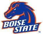BSU Embroidered NIKE GOLF - Dri-FIT Shoulder Stripe Sport Shirt | Boise State Broncos