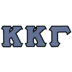 Yellow Kappa Greek Letter