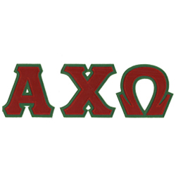 Alpha Chi Omega Sewn on Greek Letter T Shirt