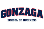 Gonzaga University School of Business Colorblock Pullover Hooded Sweatshirt - Screen-Printed | Gonzaga University School of Business