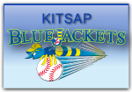 Kitsap BlueJackets Screen Printed 100% Cotton T-Shirt | Kitsap BlueJackets Baseball