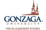 Gonzaga PHD in Leadership Studies Ladies V-Neck Jersey Knit Tee | Gonzaga University PHD in Leadership Studies