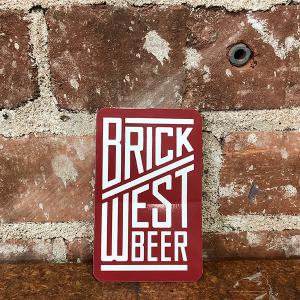 Brick West Beer Red Sticker