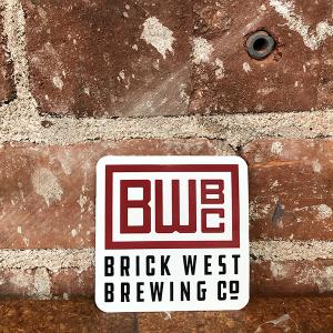 Brick West Brewing White Sticker