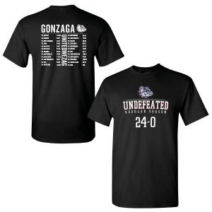 Gonzaga Undefeated 24-0 Season T-Shirt