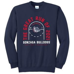 Gonzaga Bulldogs Men's Basketball Great Run of 2021 Crewneck Sweatshirt