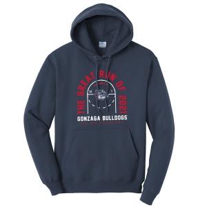 Gonzaga Bulldogs Men's Basketball Great Run of 2021 Hooded Sweatshirt