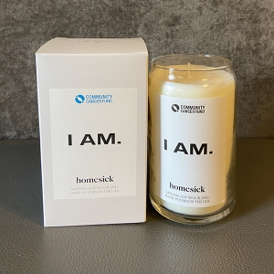 Homesick Natural Soy Wax Candle (I AM. Edition)
