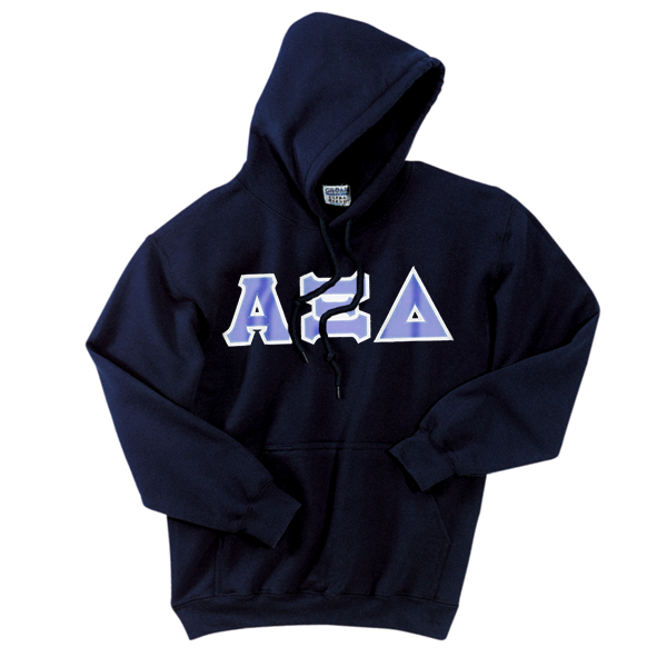 ... Twilled Greek Letter Hooded Sweatshirt | Alpha Xi Delta Sorority