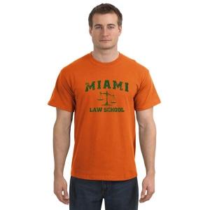 Miami Law 100 Cotton T Shirt Screen Printed