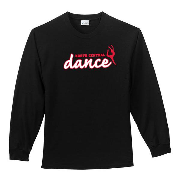 Nc dance team screen printed long sleeve t shirt north for College dance team shirts