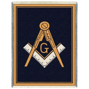 Masonic Tapestry Throw Afghan Throws