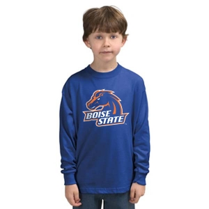 Boise state broncos screen printed youth long sleeve t for Boise t shirt printing