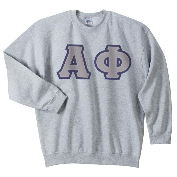 Alpha Phi Sewn Greek Letter Crewneck Sweatshirt