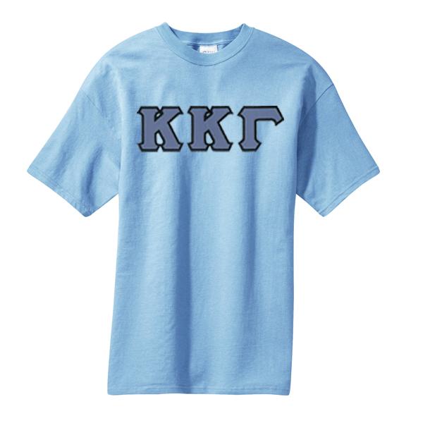Stitched Greek Letters Shirts