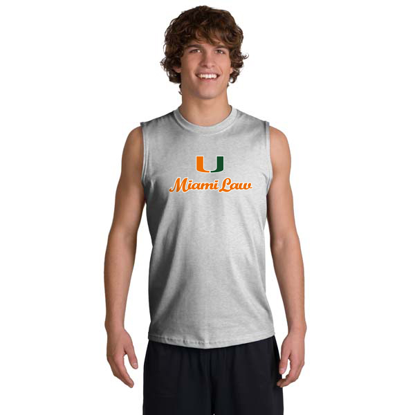 Miami law sleeveless t shirt screen printed university for Miami t shirt printing