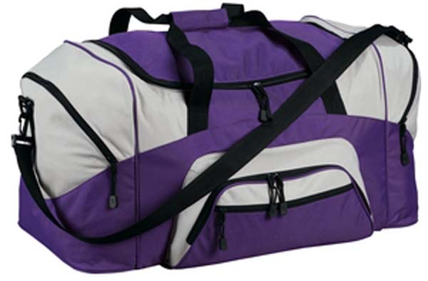 MHS Basketball Embroidered Color Block Sport Duffel  59db20185865d